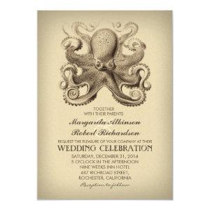nautical beach wedding invitation with octopus 5