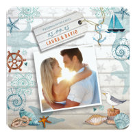 Nautical Beach | Wedding Photo Invitation