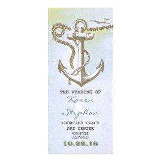 nautical beach wedding programs custom rack cards