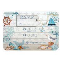 Nautical Beach Wedding RSVP Card