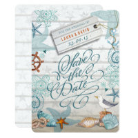 Nautical Beach Wedding | Save the Date Card