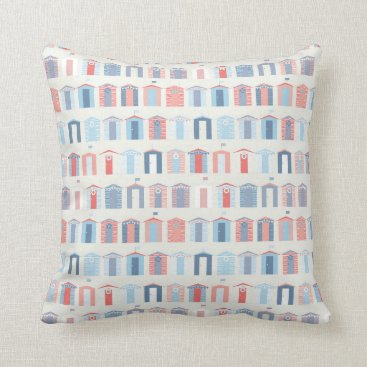 partypapercreations Nautical Beachhouse Throw Pillow