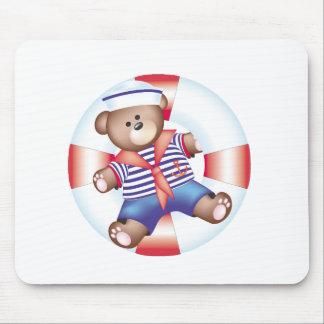 nautical bear mouse pad