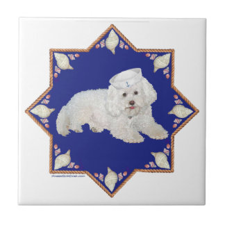 Nautical Bichon Frise Tile