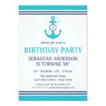 "Nautical Birthday 5"" X 7"" Invitation Card"