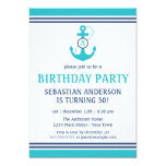 Nautical Birthday 5x7 Paper Invitation Card