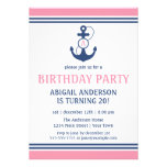 Nautical Birthday Announcement