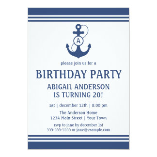 nautical birthday invitations  announcements  zazzle, Birthday invitations