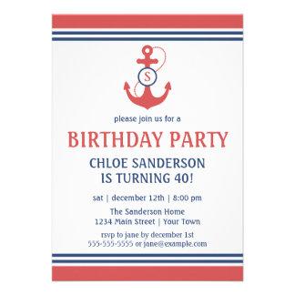 Nautical Birthday Custom Announcement