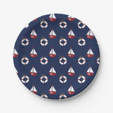 Ocean Themed Nautical Birthday Party Ocean Pattern Paper Plates
