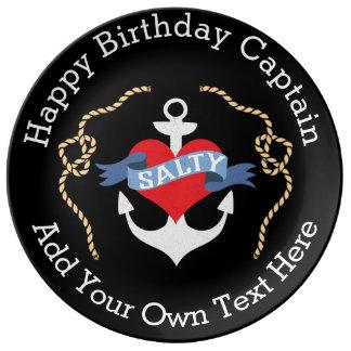 Nautical Birthday Salty Old Salt Porcelain Plate
