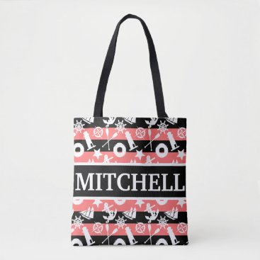 Beach Themed Nautical BKRS Personalized Tote Bag