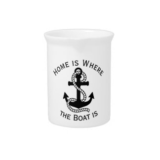 Nautical Black Anchor {pick your color} Beverage Pitchers