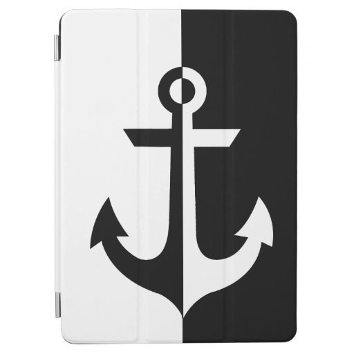Nautical Black and White Anchor {pick your color} iPad Air Cover
