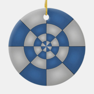 Nautical Blue Abstract Ceramic Ornament