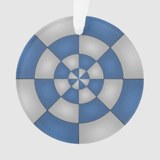 Nautical Blue Abstract Ornament