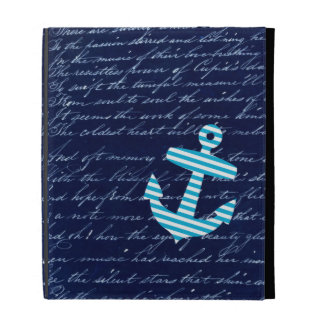 Nautical blue anchor ipad case for ipads 1 2 and 3