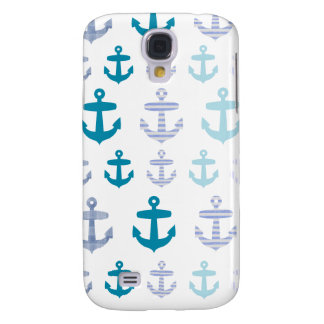 Nautical Blue Anchors Design Galaxy S4 Cover