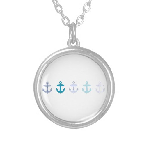Nautical Blue Anchors Design Jewelry