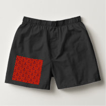 Nautical Blue Anchors on Red Boxers