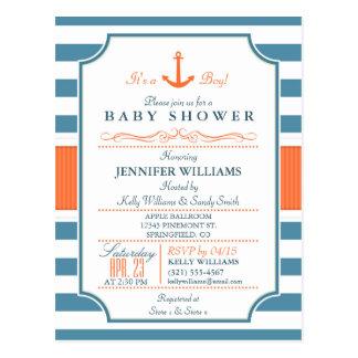Nautical Baby Shower Postcards | Zazzle