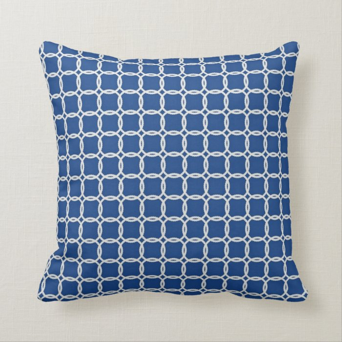 nautical blue and white ropes throw pillow zazzle. Black Bedroom Furniture Sets. Home Design Ideas