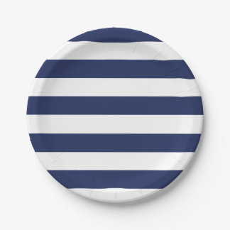 Nautical Blue And White Striped Paper Plate  sc 1 st  Zazzle & Navy And White Stripe Plates | Zazzle