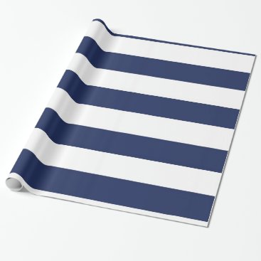 dlrpartydesigns Nautical Blue And White Striped Wrapping Paper