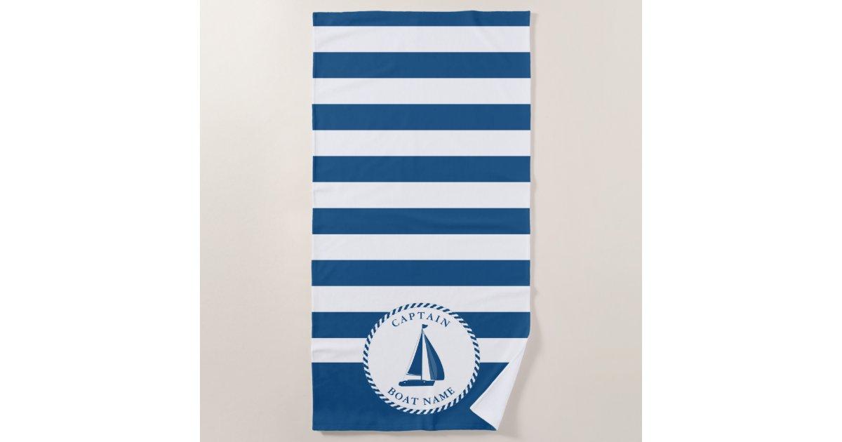 Nautical Blue And White Stripes Captain