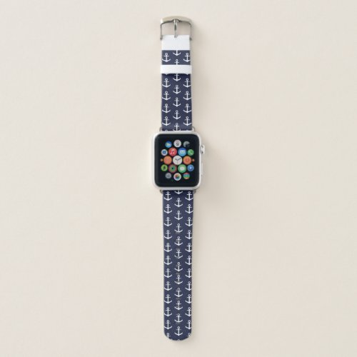 Nautical Blue Apple Watch Band