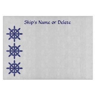 Nautical Blue Boat Anchor and Custom Ship s Name