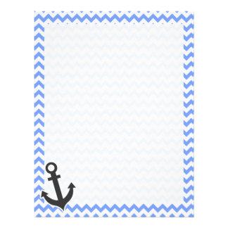 Nautical Blue Chevron Custom Letterhead