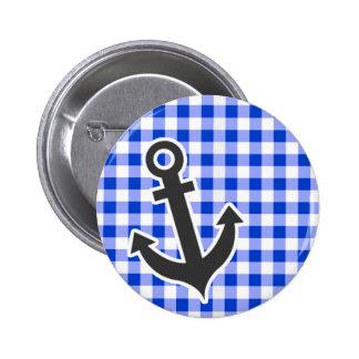 Nautical Blue Gingham Pins