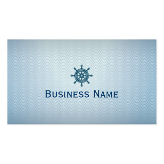 Nautical Blue Helm Wave Patterns Business Card