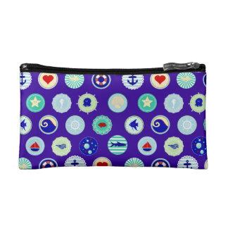 Nautical Blue Sailor Pattern Cosmetic Bag