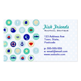 Nautical Blue Sailor Pattern Double-Sided Standard Business Cards (Pack Of 100)