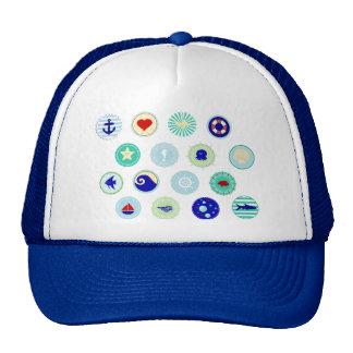 Nautical Blue Sailor Pattern Trucker Hat