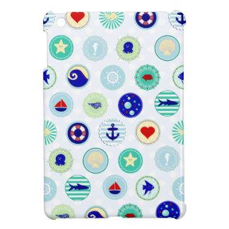 Nautical Blue Sailor Pattern iPad Mini Case