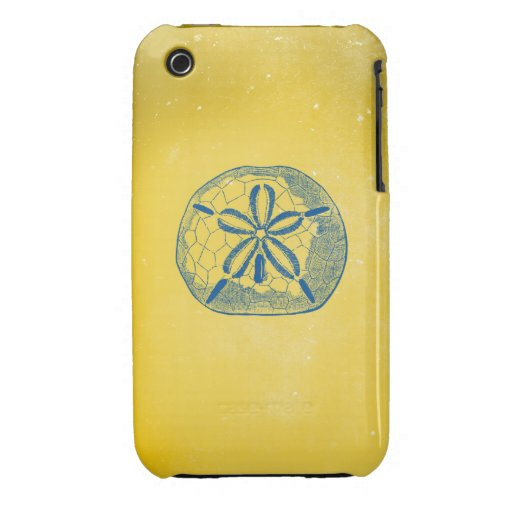 Nautical Blue Sand Dollar and Vintage Yellow iPhone 3 Cases