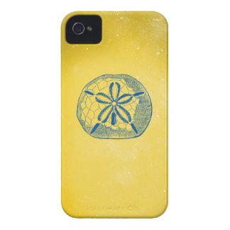 Nautical Blue Sand Dollar and Vintage Yellow Case-Mate iPhone 4 Case