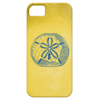 Nautical Blue Sand Dollar and Vintage Yellow iPhone SE/5/5s Case