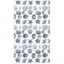 Nautical Blue Shells Tablecloth