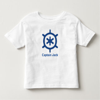 Nautical Blue Ship Captain's Helm Wheel Custom T Shirt