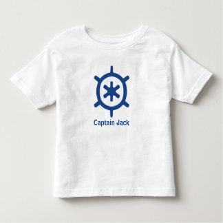 Nautical Blue Ship Captain's Helm Wheel Custom T-shirts