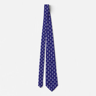 Nautical Boat Anchor Blue and White Mans Tie