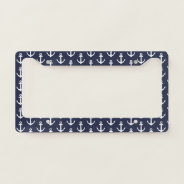 Nautical Boat Anchor Pattern License Plate Frame at Zazzle