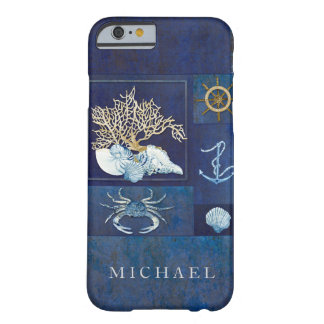 Nautical Boat Anchor Ships Wheel Sea Shells Crab Barely There iPhone 6 Case