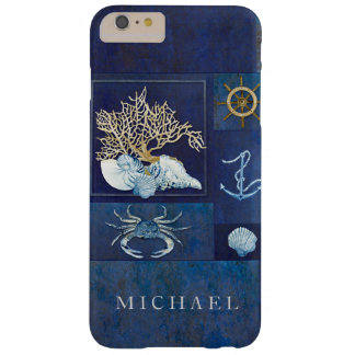 Nautical Boat Anchor Ships Wheel Sea Shells Crab Barely There iPhone 6 Plus Case