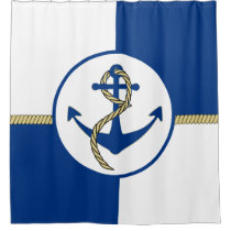 Nautical Boat Anchor Shower Curtain