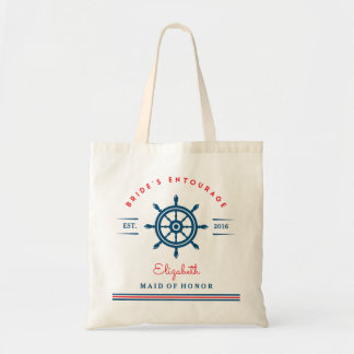 Nautical Boat Steering Wheel Wedding Tote Bag